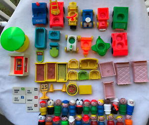 Lot of Vintage Fisher Price Little People,Cars,Trucks,Planes,Furniture,++