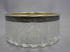 schöne Kristall Schale Russland mit Silber Montur 875 punziert
