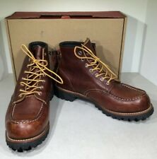 Red Wing Shoes Roughneck 6-inch Men's Sz 9.5 Brown Moc Toe  Boots X2-666