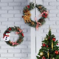 Christmas Garland Wall Door Hanging Wreath Ornament Christmas Tree Xmas Decor UK