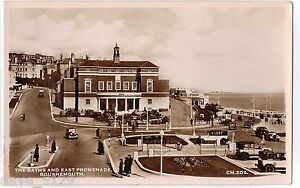 The Baths East Promenade, BOURNEMOUTH 1930s Real Photo Postcard Interesting View