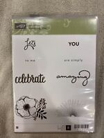 """Stampin' Up! """"Sale A Bration Amazing You"""" 8 Pc Stamp Set  #147212  Scrapbooking"""