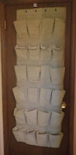 "Behind the Door Cloth Shoe Storage Slippers Organizer Brown 22"" x 64"""