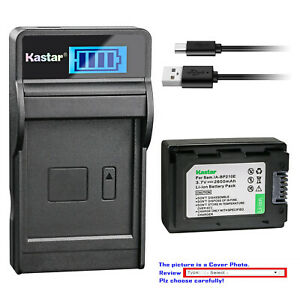 Kastar Battery LCD Charger for Samsung IA-BP210E IA-BP210R & Samsung SMX-F54