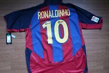 Barcelona #10 Ronaldinho 100% Original Jersey 2003/2004 Home XL NWT [2642]