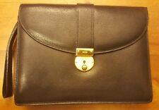 Vintage, GUCCI, Black, Genuine Leather, Organizer, Wristlet Bag, 1970s