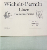 Wichelt Permin PREMIUM LINEN FABRIC 32 Count Cross Stitch 18 x 27 WATER LILY