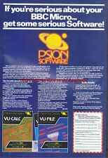 "BBC Micro PSION Software ""Vintage Software"" 1983 Magazine Advert #5096"