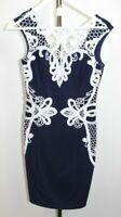 Blue & White Lace Dress Lipsy Michelle Keegan Ladies UK Size Unknown  . ALSR4CM