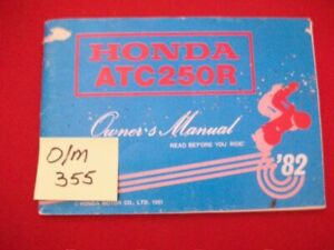 VINTAGE 1982 HONDA ATC250R FACTORY ISSUED OWNER'S MANUAL-OEM HTF COLLECTIBLE VGC