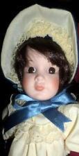 Kingstate Porcelain Doll Meet Ann Girl Doll Love those Dark Brown Eyes!