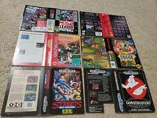 FLAWED DAMAGED Ghostbusters Streets of Rage Robocop Terminator Sega Genesis box