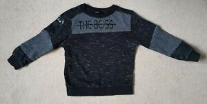 boys black sweatshirt top age 2-3 years 'the boss' motif