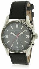 Victorinox Chrono Classic 41mm Stainless Steel Case Black Leather Strap - (241657)