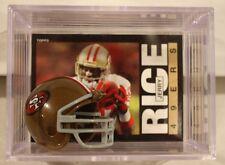 Jerry Rice San Francisco 49ers Mini Helmet Card Display Collectible WR HOF Auto