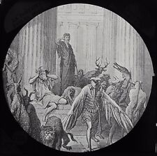 Glass Magic Lantern Slide DORE BIBLE COMPANIONS OF ULYSSES C1890 DRAWING