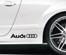 2 x anillos de Audi Coche Pegatinas De Vinilo/calcomanías de lado Falda Cualquier Color