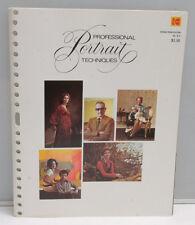 Kodak Professional Portrait Techniques O-4 1973 1573955 Pamphlet Booklet - B127