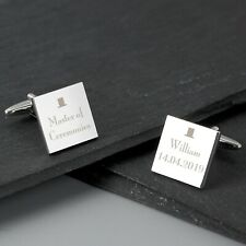 Personalised Decorative Wedding Square Cufflinks Best Man Groom With Gift Box