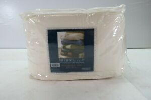 """Shavel Home Micro Flannel Blanket w/ Sherpa Bag Full Queen Size 90"""" x 90"""" Ivory"""