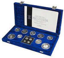2000 moneda de plata prueba de la colección del milenio 13 Colección de monedas