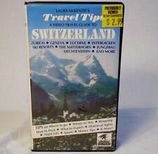 Switzerland VHS Videotape Video Travel Guide Laura McKenzie Tips 1985 Day Trips