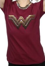 DC Comics Wonder Woman Logo T Shirt Super Hero Fancy Dress Womens Halloween
