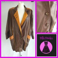 Vintage 80's Leather Jacket Ozaydin Size Small Vintage coat