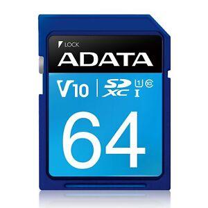 64GB AData Premier SDXC CL10 UHS-1 V10 Memory Card