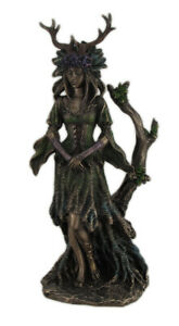 Guardian Goddess of the Trees Bronze Finished Statue