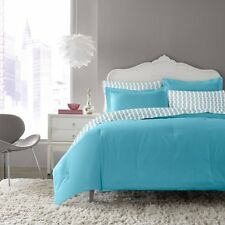 NEW! BETSEY JOHNSON TEAL Blue 5 pc Comforter Set TWIN SKULLS  Bed In A Bag