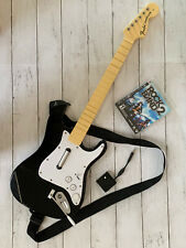 PS3 Fender Stratocaster Wireless Rock Band 2 Guitar with Dongle, game, Strap