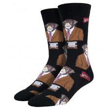 Socksmith Men's Crew Socks Monkey Biz Business Apes Black Novelty Footwear