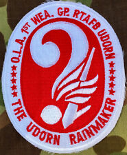 Air Force OLA 1ST WEATHER GROUP RTAFB UDORN USAF THE UDORN RAINMAKER Patch