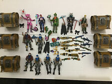 11 Fortnite action figures lot, Accessories,Weapons, backBling 4inch Gi Joe Size