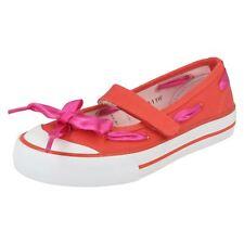 Girls Startrite Canvas Shoes Ribbon