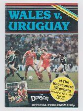 Original PRG     21.04.1986     WALES - URUGUAY  !!  SELTEN