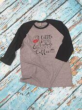 Lipsense And Coffee Tee Tshirt Raglan Lipstick Baseball T-shirt