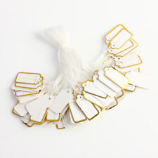 500pcs Price Ticket Tags Labels String Tie Watch Jewelry Clothing Display