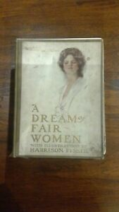 1907 Harrison Fisher 19 color illustrations Book: A Dream of Fair Women, Poems