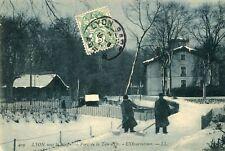 Carte LYON sous la neige Parc de la Tête d'Or L'Observatoire