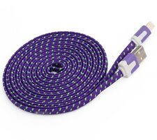 Purple Long 3M USB Cable for iPhone 6S 7 8 Plus X 5S Data Charger Extension Lead
