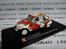 voiture 1/43 ELIGOR Autoplus CITROËN 2CV n°27 CROSS championnat de France