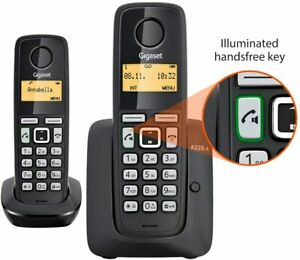 Gigaset A220A Twin Cordless Home Phone with Answer Machine