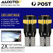 2X T10 CANBUS White 6000K 194 Car  LED Interior Map Number Plate Light W5W Bulb