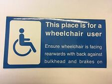 Bus Wheelchair Space Sticker - DDA compliant - wheelchair facing to right