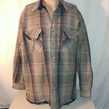 Briggs Mens Vintage Quilted Flannel Shirt XL EUC Winter Wear