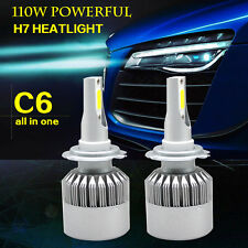 2 pieces H7 Led Car Headlight kits Lamps 110W 6500K Cold white 12V wholesales