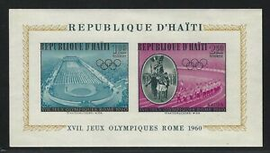 1960 Haiti Scott #C165a - 17th Olympic Games, Rome Souvenir Sheet - MNH