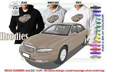 99-2001 WH HOLDEN STATESMAN HOODIE ILLUSTRATED CLASSIC RETRO MUSCLE SPORTS CAR